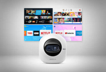 It's not an orange but the Nebula Astro portable projector by Anker