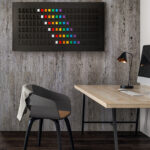 A stylish airport departure display for your home with some cool smart features